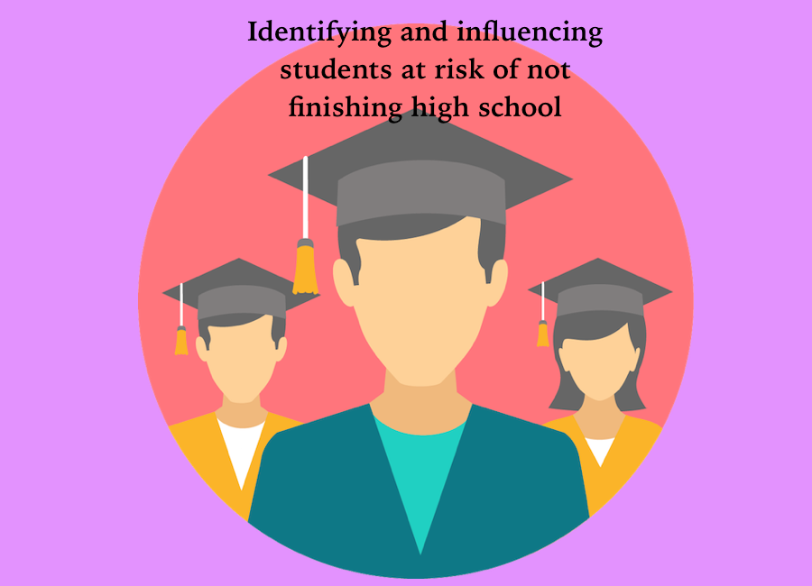 Identifying and influencing students at risk of not finishing high school