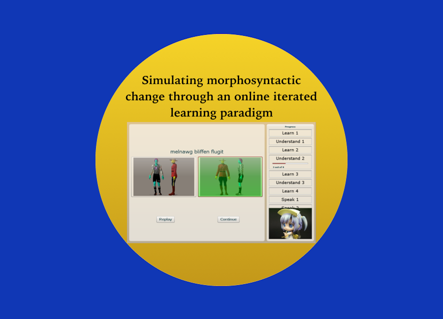 Simulating morphosyntactic change through an online iterated learning paradigm