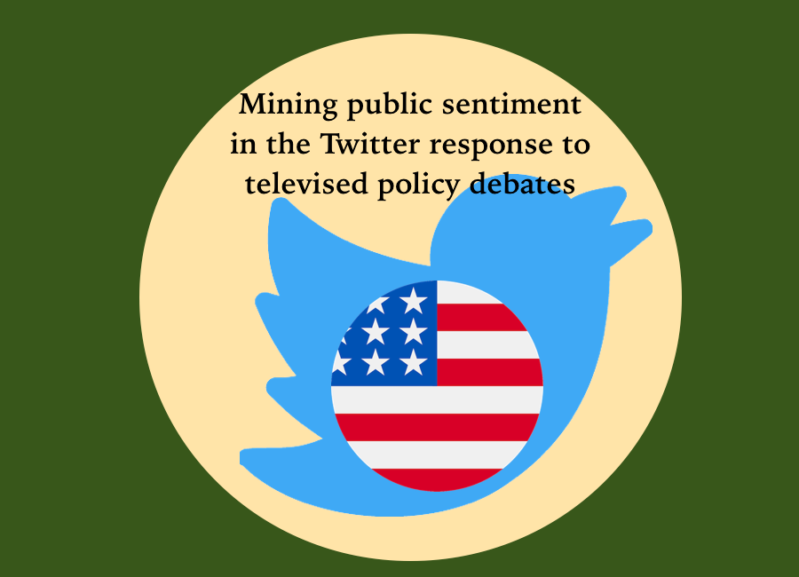 Mining public sentiment in the Twitter response to televised policy debates